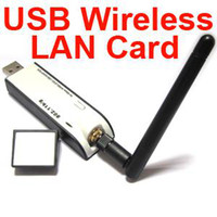 Wholesale 3pcs New USB Wireless Mbps WiFi b g LAN Adapter Card with External Antenna