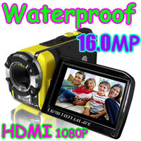 Red waterproof camera - 3 quot MP P HD Waterproof Digital Video diving neoprene camera Camcorder DV WD drop shipping