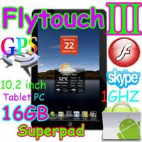 Wholesale 15pcs GB quot tablet pc Flytouch3 skype Android GPS wifi Infortm x220 SuperPad