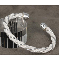 Wholesale top quality fashion silver charm Spiral mesh bangle bracelet jewelry best Christmas gift