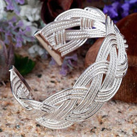 Wholesale top quality fashion silver charm cross mesh bangle bracelet jewelry good Christmas gift
