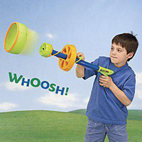 Wholesale Toy Space Gun Zyclone High Elastic Experience The Fun of Rotating Bring UFO Darts Bow and Arrow