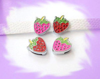 Wholesale 50pcs mm Strawberry Slide Charms Fit Pet Collar Necklace Bracelet Cell Phone Charms