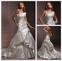 Wholesale Distinctive sheath Wedding Dresses beaded grasp fold Sexy Wedding gown Bridal Dresses open back GT01