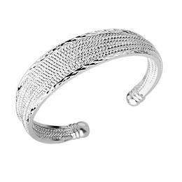 Wholesale top quality fashion silver charm Beautiful mesh bracelet jewelry Christmas Panic buying