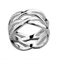 Wholesale new hot fashion silver charm Beautiful Fish mesh ring jewelry Christmas gifts Best choice