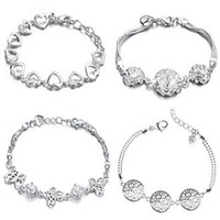 Wholesale FASHION JEWELRY Mix order STERLING SILVER BRACELET silver chain braecelets
