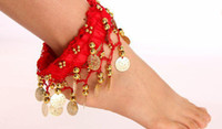 Sequin belly dance jewelry - belly dance accessories belly dance jewelry super cheap chiffon anklet P02