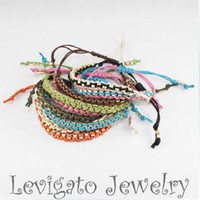 Wholesale hollywood fashion woven band Pretty Turkey evil eye bracelet Charms Manual Mix color colorful