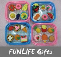 boxes boxes fruit - funlife Novelty Back to School sets Food Fruit Lunch Box Shape Simulation Eraser Kawaii