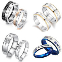 Wholesale MIX ORDER FASHION JEWELRY RING STAINLESS STEEL couple finger rings