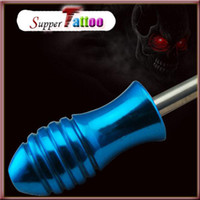Wholesale Tattoo Supplies One Pc Top Blue Tattoo Alloy Grip with back stem