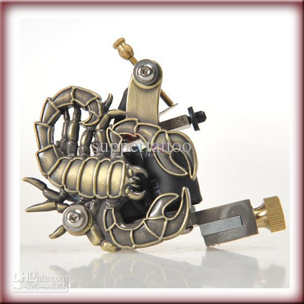 scorpion design tattoo machine gun for shader and liner 10 wrap coil tattoo supply tattoo kits. Black Bedroom Furniture Sets. Home Design Ideas