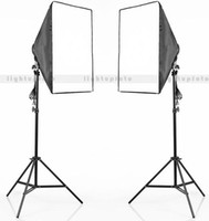 Wholesale PRO Photo Studio socket head E27 Soft Box Light Stand set new