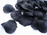 Wholesale 1500pcs Black nice heart silk rose petals flower girl basket for wedding accessories bags bag