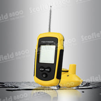 Wholesale Portable Degree Feet Meters Wireless Sonar Fish Finder Fishfinder Alarm LCD Fishing Tool