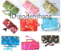 Wholesale Embroidery Brocade Silk Jewelry Roll bags A05