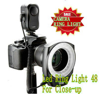 Wholesale 48 LED Camera Video Macro Ring Light led bright light photoflash lamp photoflash light flash lamp