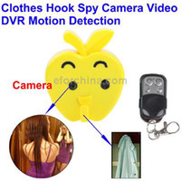 Wholesale HD Clothes Hook Spy Camera Video DVR Motion Detection with G Remote