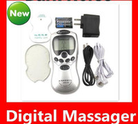 Wholesale 30pcs health care products digital slimming massager digital therapy machine with AC Power