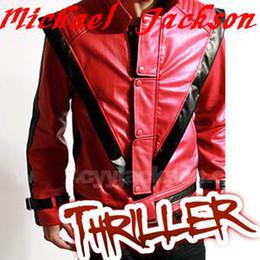 Wholesale U pick size Classic red jacket Michael Jackson MJ Thriller MTV version red Jacket