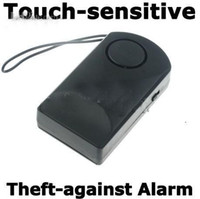 Wholesale Wireless Touch Door Knob Entry Alarm Alert Home Security Anti Theft dB Black FK202 EJIFG
