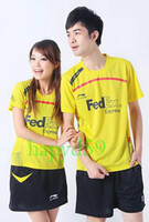 Wholesale 6set li ning badminton sportswear tracksuit jersey Sudirman Cup Chinese team shirt amp shorts