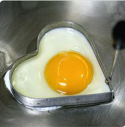 Wholesale Free Ship Mini Heart Shape Egg Cooker Stainless Steel Heart Shape Fried Egg Potato Cake Tool Retail Package
