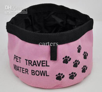 Wholesale Pet Collapsible Fabric Travel Dog waterproof Bowl Portable Pet Waterproof Water Bowl