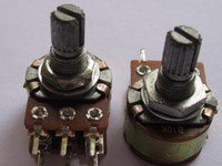 Wholesale B10K Dual Potentiometer Pots mm Split Shaft pin Per High Qulity