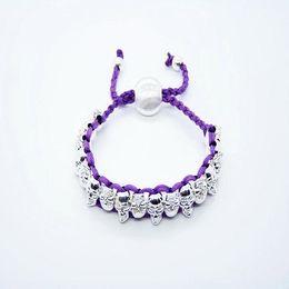 Fashion jewelry 925 Silver Knit Red Friendship Face Skull Mystic bangle bracelet 20pcs