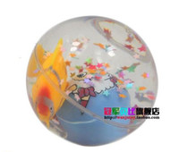 Wholesale kid toys bouncing flash ball led ball elastic ball crystal colorful l bounce Jumping Ball
