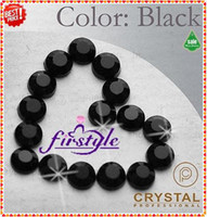 Wholesale Nail Art Rhinestones SS10 mm Black Jet Color Non Hotfix Flat Back Rhinestones For Nail