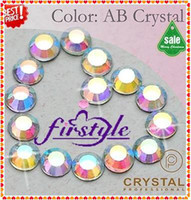 Wholesale Nail Art Rhinestones SS10 mm Crystal AB Color Non Hotfix Flat Back Rhinestones For Nail