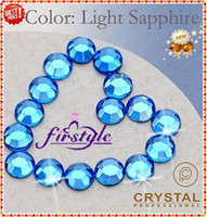Wholesale Nail Art Rhinestones SS10 mm Light Sapphire Color Non Hotfix Flat Back Rhinestones