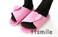 Wholesale Hot Household slippers The plane slippers Two sides shoes massage slippers light coat