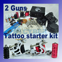 2 Guns Other Material Machine Other Machine Tattoo Machine Kit 2 Guns Supply Set Equipment Complete 110V 230V US Plug Professional