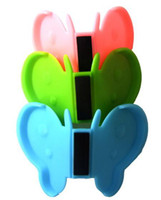 Wholesale anti hot butterfly magnet Saucer clip dish holder bowl tongs many color healthy safety tool coat
