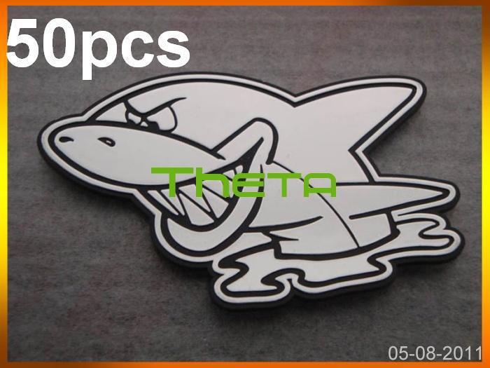 Shark Emblems Shark Car Badge Sticker Emblem