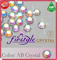 Wholesale Nail Rhinestone SS16 mm Crystal AB Color Non Hotfix Flatback Rhinestones