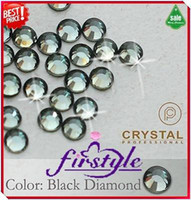 Wholesale Nail Rhinestone SS16 mm Black Diamond Color Non Hotfix Flatback Rhinestones