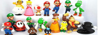 Wholesale DHL PVC Super Mario Bros Figure yoshi dinosaur Figure cos styles mixed sets