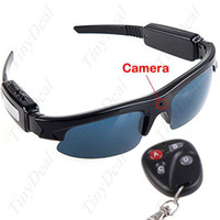 Wholesale Hidden Spy Sunglasses Digital Video Camcorder PC Camera with TF Slot Remote Control