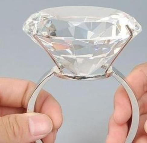100MM Super Large Crystal RingBig Diamond Ring Wedding Decoration Gift Online With 6034