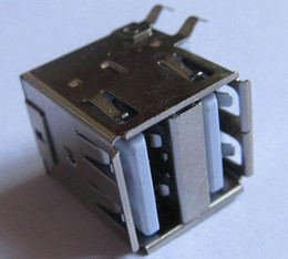 Double Deck USB 2.0 Type A Solder Female 4 pin plug Motherboard Socket Computer Parts   Accessories