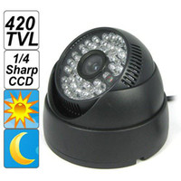 Wholesale 1 Sharp CCD TVL Night Vision Dome Security Camera with Pieces IR LED
