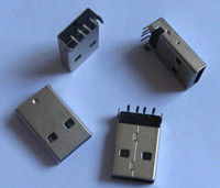 Wholesale USB Type A Right Angle Solder Male pin Socket Computer Parts Accessories