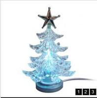 Indoor Christmas Decoration Christmas Decorations  USB LED christmas tree with 7 color change,Christmas Lighting Wedding Party Christmas Fairy String L
