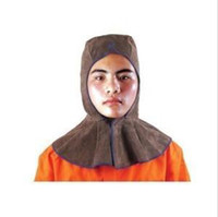 Wholesale Welding protection Welding cap Charcoal brown leather type welding cap full protection