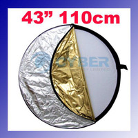 Wholesale 5 IN quot cm Collapsible Light Reflector Photography in Silver Gold Black White andTranslucent